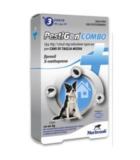 Pestigon spoton combo 3 pipette 134 mg cani medi