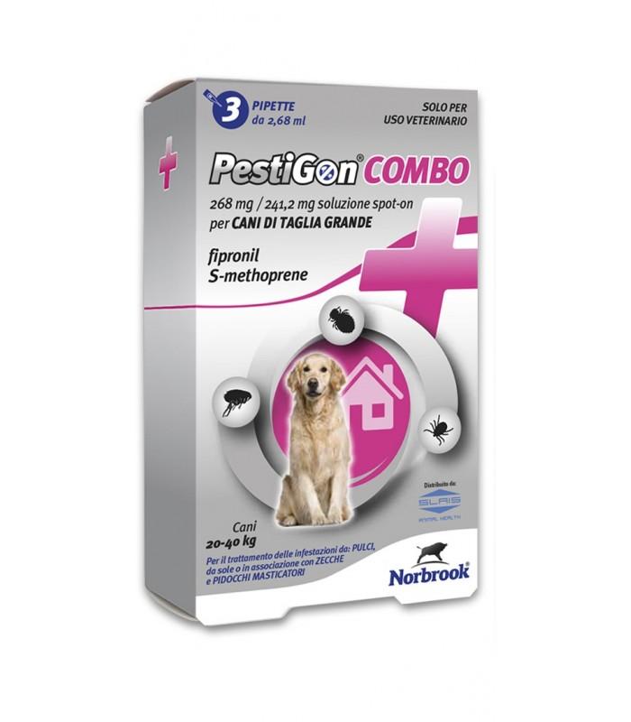Pestigon spoton combo 3 pipette 268 mg cani grandi