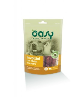 Oasy snack cane involtini con filetto di anatra 100 gr