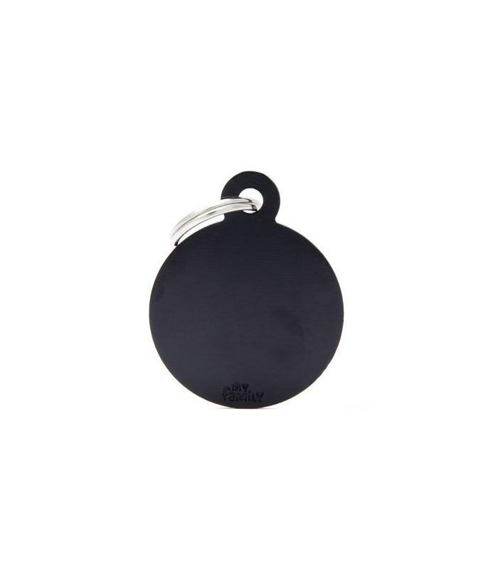 My family medaglietta cane black big circle