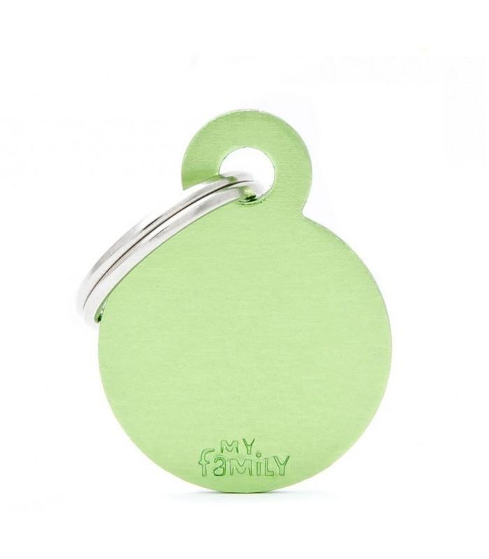 Medaglietta cerchio verde piccolo con incisione gratuita