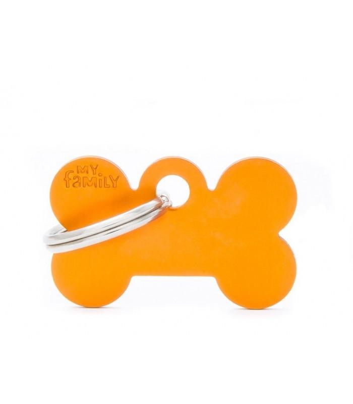 My family medaglietta cane orange small bone