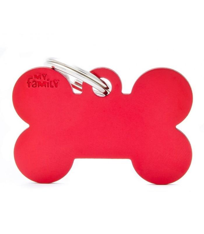 My family medaglietta cane red big bone
