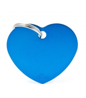 My family medaglietta cane light blue small heart