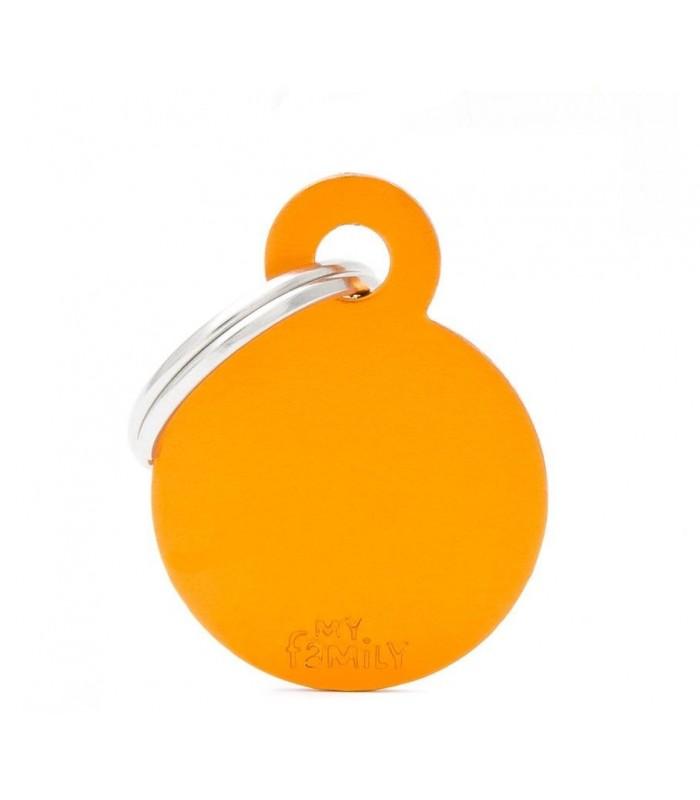 My family medaglietta cane orange small circle