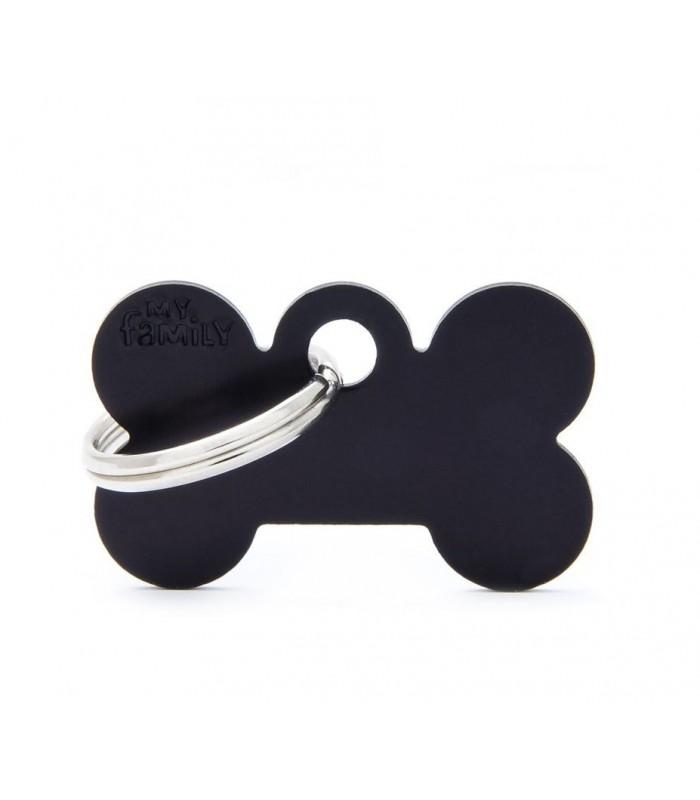 My family medaglietta cane black small bone