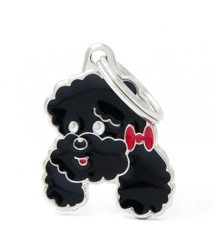 My family medaglietta cane black poodle