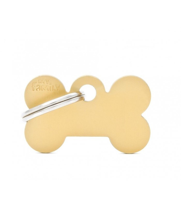 My family medaglietta cane golden small bone