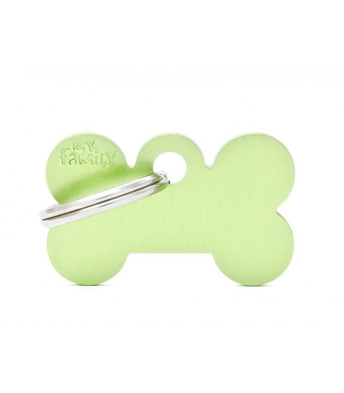 My family medaglietta cane green small bone