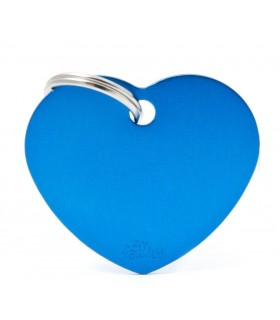 My family medaglietta cane light blue big heart
