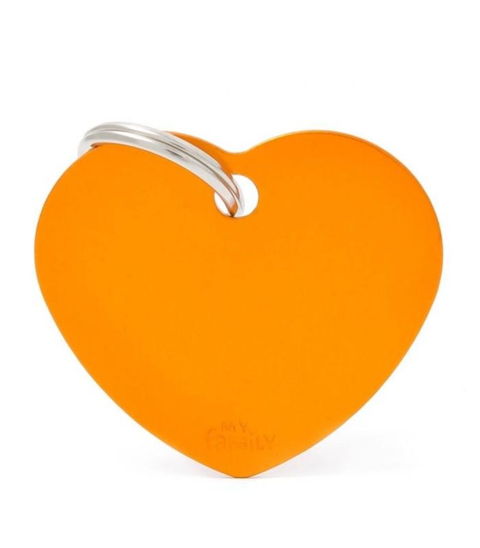 My family medaglietta cane orange big heart