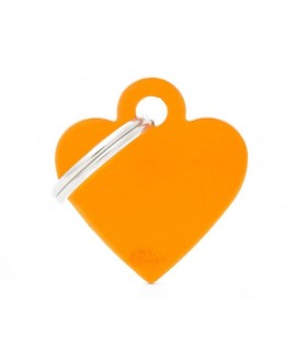 My family medaglietta cane orange small heart