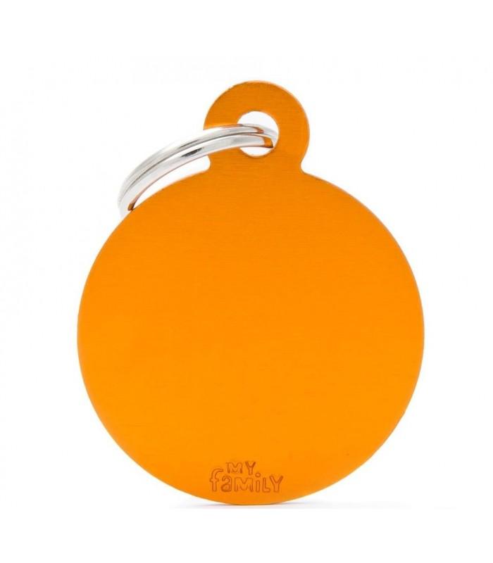 My family medaglietta cane orange big circle