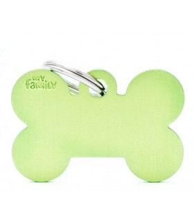 My family medaglietta cane green big bone