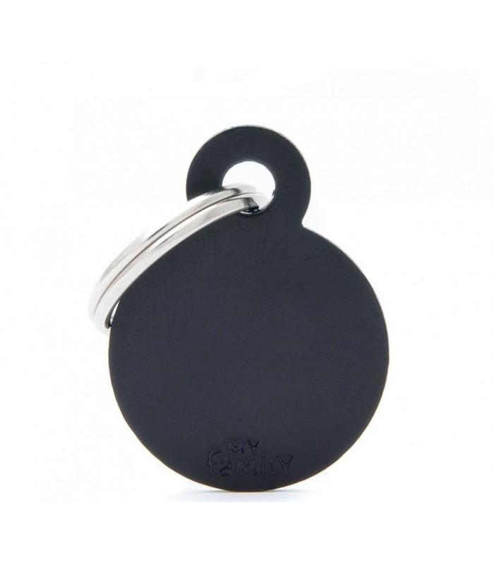 My family medaglietta cane black small circle