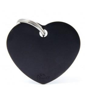 My family medaglietta cane black big heart