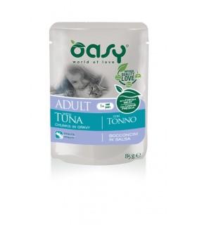 Oasy gatto wet bustina bocconcini tonno 85 gr