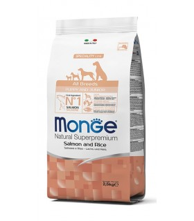 Monge cane puppy & junior all breeds salmone e riso 800 gr