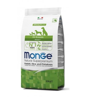 Monge cane adult all breeds coniglio riso e patate 2,5 kg