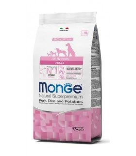 Monge cane adult all breeds maiale riso e patate 2,5 kg