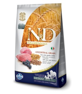 Farmina n&d low grain cane medio farro avena agnello mirtillo 2.5 kg