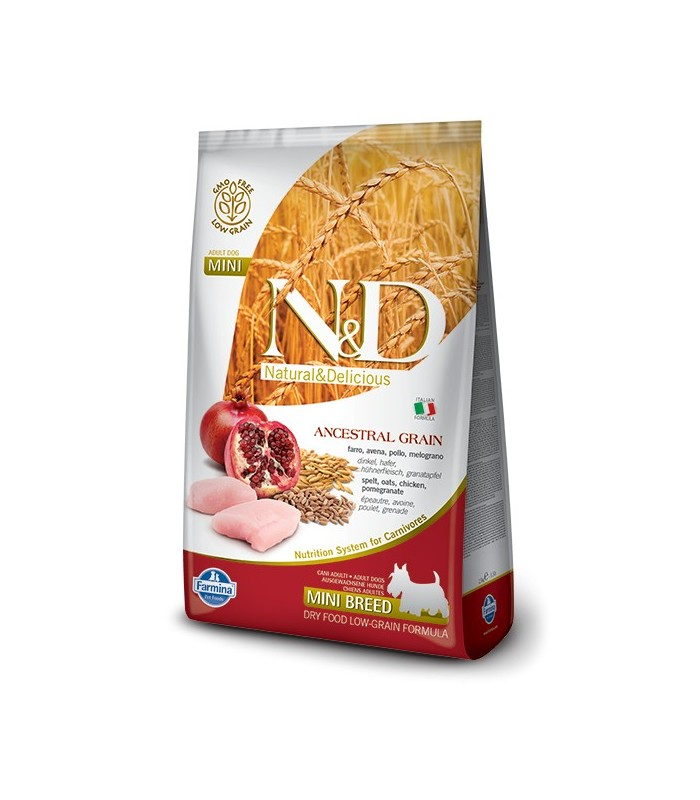 Farmina n&d low grain cane mini pollo e melograno 800 gr