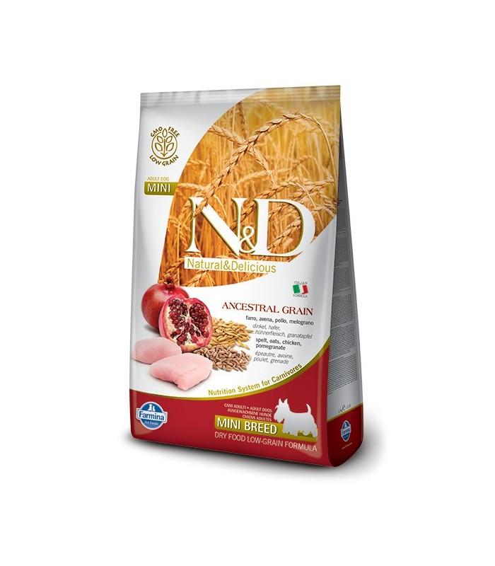 Farmina n&d low grain cane mini pollo e melograno 2,5 kg