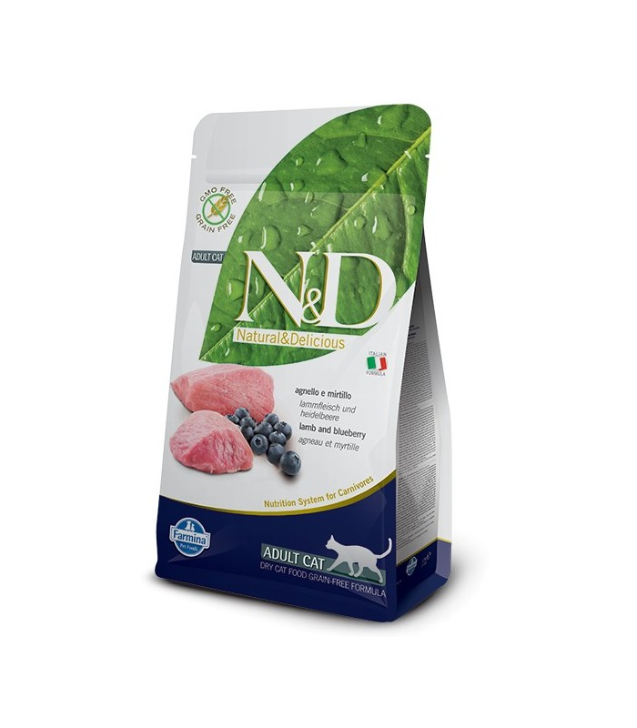 Farmina n&d grain free cat agnello e mirtillo 5 kg