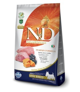 Farmina n&d pumpkin grain free adult mini agnello zucca e mirtillo 7 kg