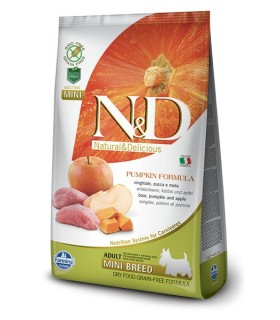 Farmina n&d pumpkin grain free adult mini cinghiale zucca e mela 800 gr