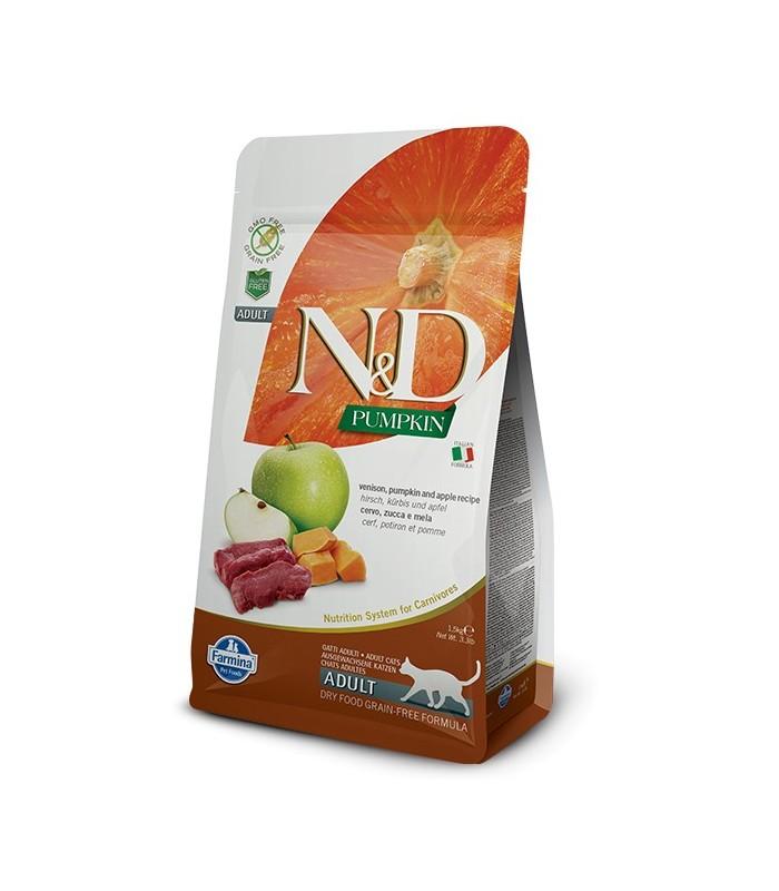 Farmina n&d pumpkin grain free gatto adult cervo zucca e mela 300 gr