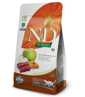 Farmina n&d pumpkin grain free gatto adult cervo zucca e mela 1,5 kg