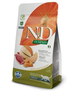 Farmina n&d pumpkin grain free gatto adult anatra zucca e melone cantalupo 300 gr