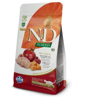 Farmina n&d pumpkin grain free gatto adult neutered quaglia zucca e melograno 1,5 kg