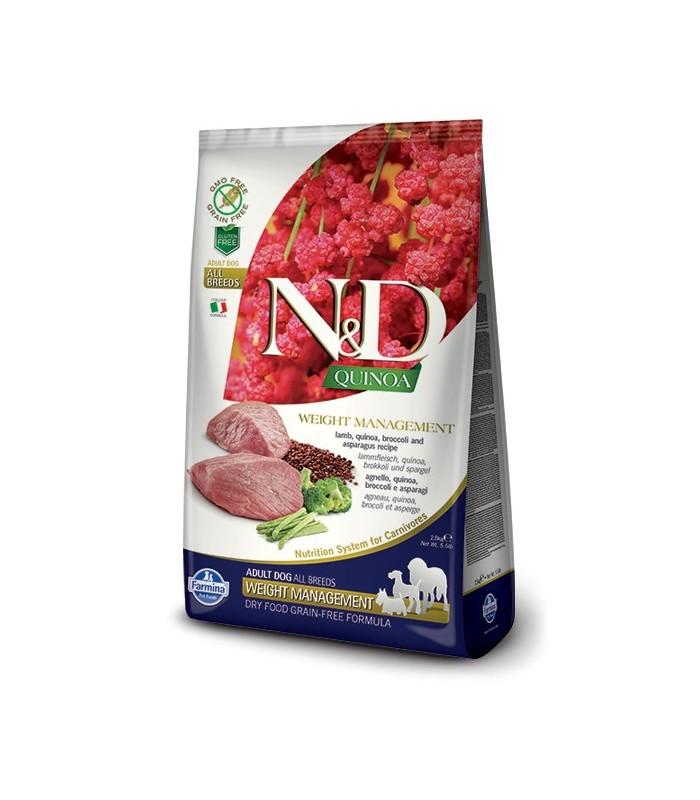 Farmina n&d quinoa cane weight management agnello 7 kg