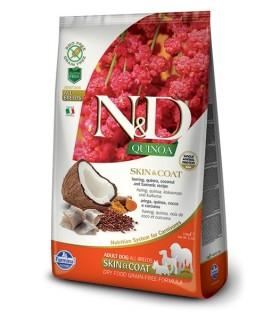 Farmina n&d quinoa cane skin&coat aringhe 7 kg