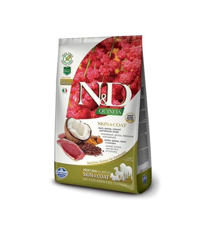 Farmina n&d quinoa cane skin&coat anatra 7 kg