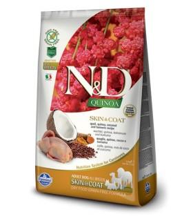 Farmina n&d quinoa cane skin&coat quaglia 7 kg