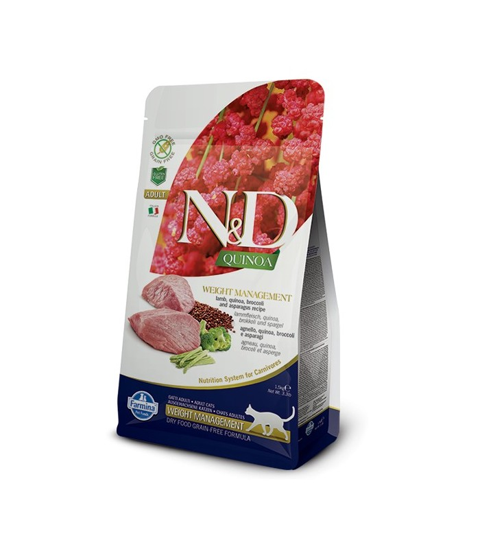 Farmina n&d quinoa gatto weight management agnello 1,5 kg