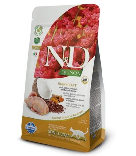 Farmina n&d quinoa gatto skin&coat quaglia 300 gr
