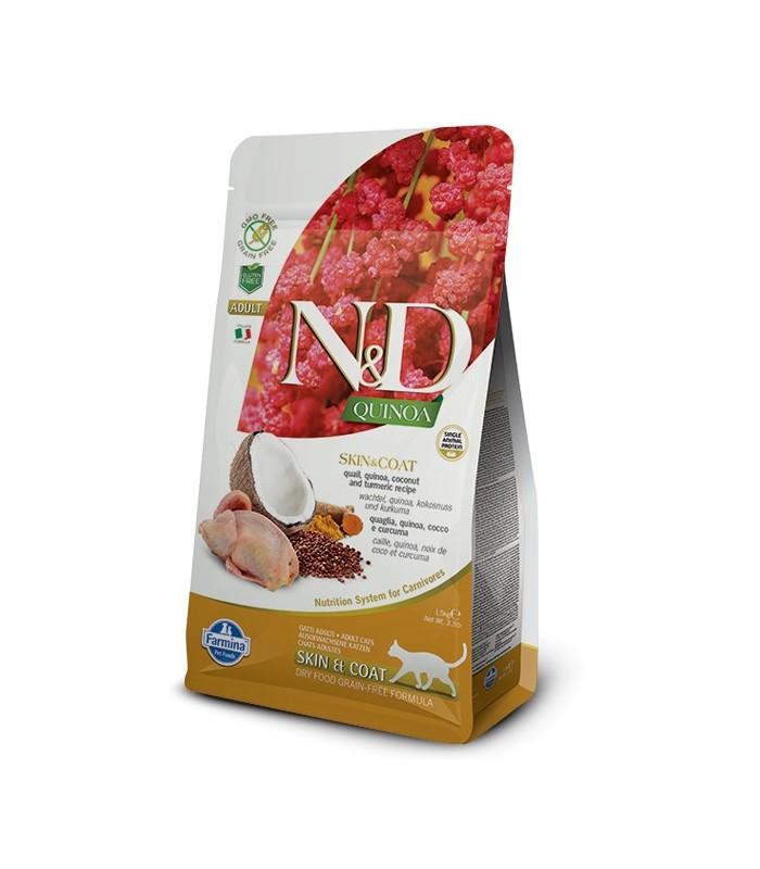 Farmina n&d quinoa gatto skin&coat quaglia 300 gr