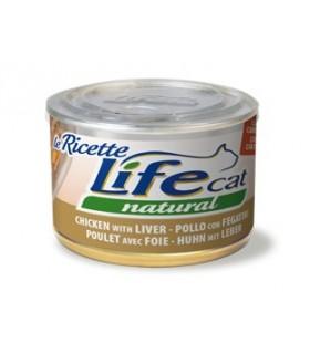 Life cat natural pollo con fegatini e carote 150 gr