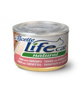 Life cat natural tonno con gamberetti 150 gr