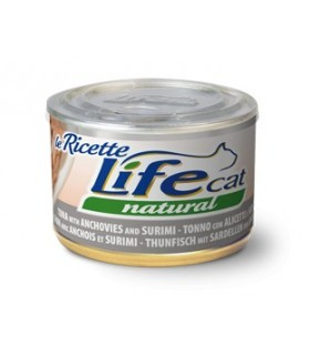 Life cat natural tonno con alicette e surimi 150 gr