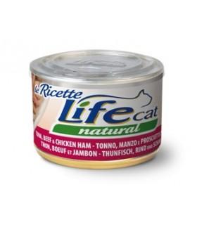 Life cat natural tonno manzo e prosciutto di pollo 150 gr