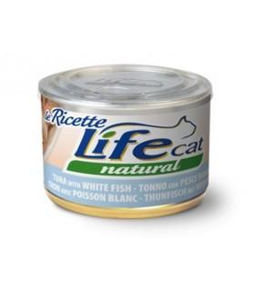 Life cat natural tonno con pesce bianco 150 gr