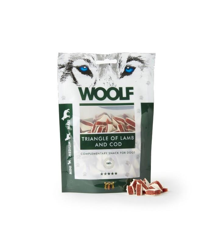 Woolf triangolini di agnello e merluzzo 100 gr