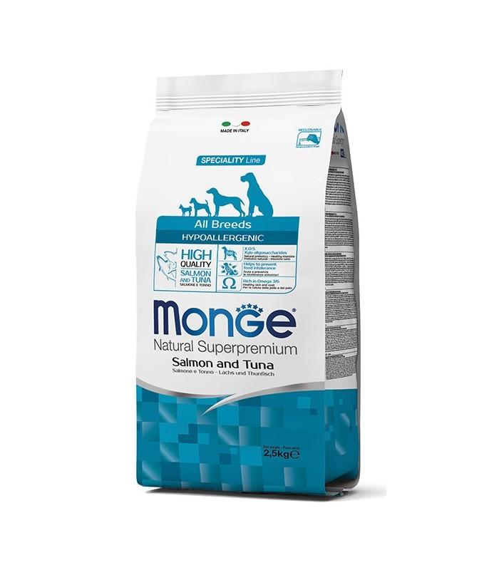Monge cane hypoallergenic all breeds salmone e tonno 12 kg