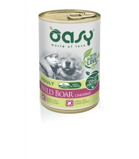 Oasy cane adult cinghiale umido 400 gr