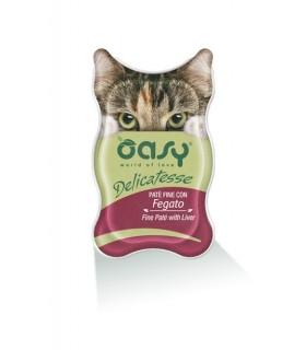 Oasy gatto delicatesse pate con fegato vaschetta 85 gr